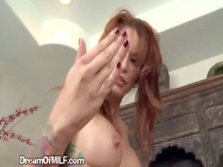 tattooed giant boob ginger belle delights into