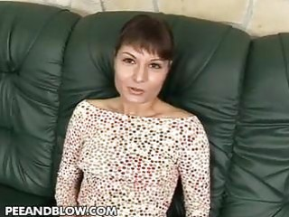 milf worships a charming triple couples drill and