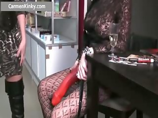 two rooty babe gangbanging dude with strap part3