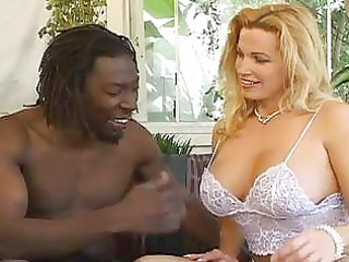 pale giant boobs slut gets black dick