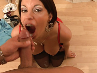 cheating housewife licking photographer