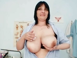 huge bossom amateur cougar babe zora playing her