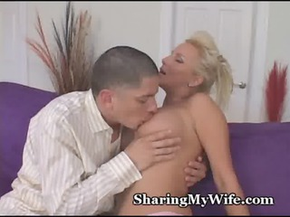 grownup woman invites young stud to drill