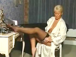 elderly in nylons