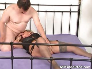 horny blond mum blows cock and daughter part6