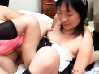 lusty eastern grownup housewife joining a
