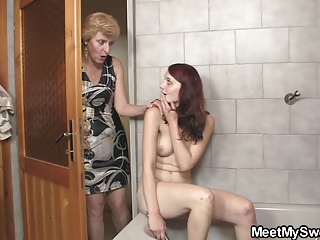 his lady licks her whore later daddy fucks her