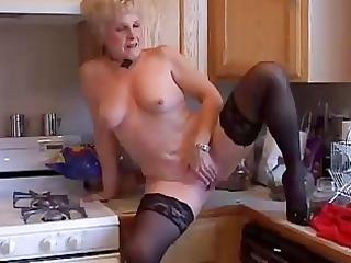 enormously sweet grandma has a soaking juicy kitty