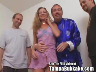 milfy redhead sherry takes gangbanged and