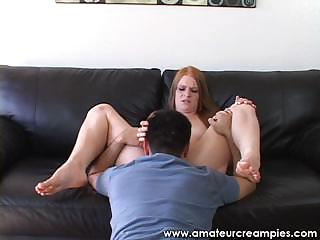 20 time old ginger and her initial creampie