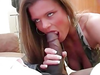 busty bleached whore woman slurps on raging bbc
