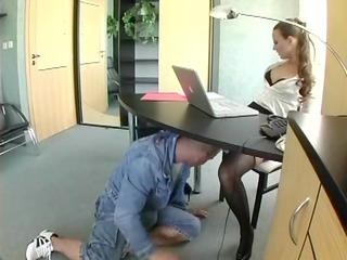 inexperienced secretary inside lingerie fucking