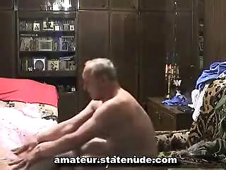 grandpa with russian amateur