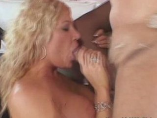 desperate blonde maiden craved for a big penis