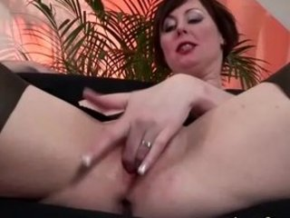older british babe into nylons takes drilled and
