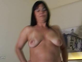 older mother roseline loves her large sex toy