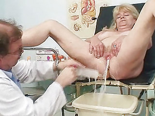 albino grandma desperate cave exam with enema