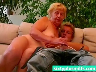 fresh boy seduced heavy granny