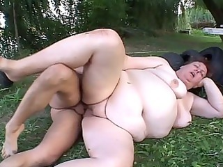 mature fattie drilled with carrots and penises