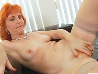 ginger mature angel bangs bushy cave
