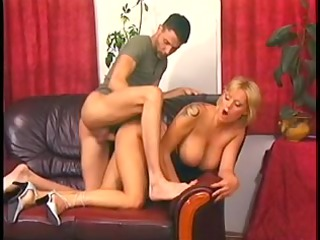 goldenhaired mommy with perfect jugs pumped on a