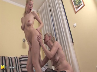 two blond elderly and inexperienced homosexual