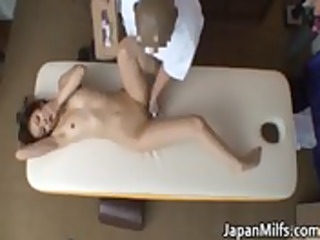 eastern mature lady has massage and piercing