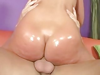 gorgeous lady inside sweet dark g-string plays