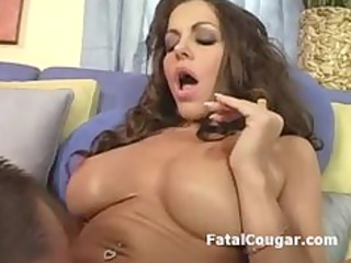 kitty licked older chick gives terrific libido