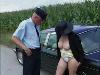 sex-frenzied rich old takes romped by her driver