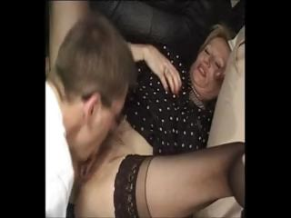 mature french, two boys & large plastic cock