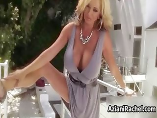 hot bleached milf goes insane plastic cock part5