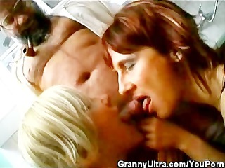 two penis tasting grannies and one old timer