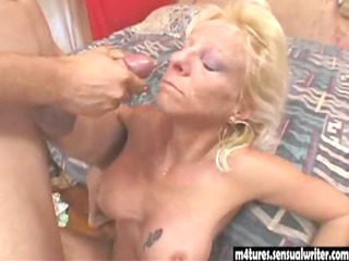 stunning blonde mature bangs more amateur male