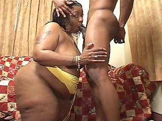large extremely impressive momma rides a ebony
