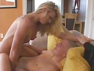 hot lady fucks young stud