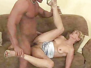 grownup granny gives a fellatio and is banged