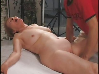 old takes help with her plastic cock