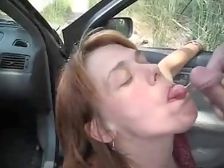 car oralservice pleasure and cumshots flow with a