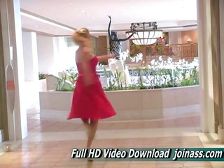 alison girl a charming brown dress acts enjoy a