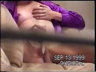 bad voyeur spied his milf masturbating. through