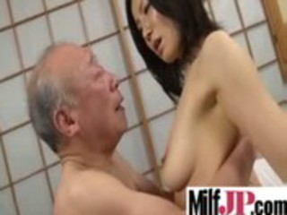 horny asians cougar babes acquires gang-banged