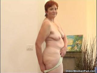 68 moment elderly granny pleases her charming