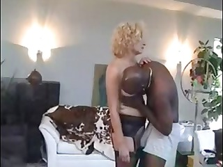 ancient bleached wench gets some black libido fat