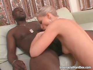 dirty albino lady licks huge chubby black