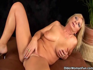 breasty grandma squirts her slut juice as that