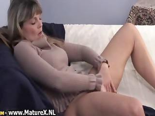 old older woman enjoys laying part6