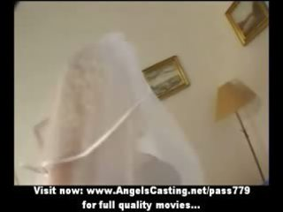 extremely impressive pale lady as bride does dick