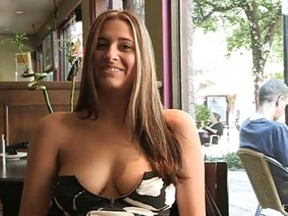 patricia awesome woman with sunglasses flashing