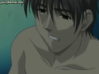 red-haired anime slut jerking a libido